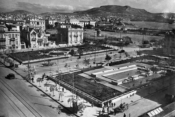 Η πλατεία Αιγύπτου το 1925 πηγή: facebook «Παλιές φωτογραφίες της Αθήνας»