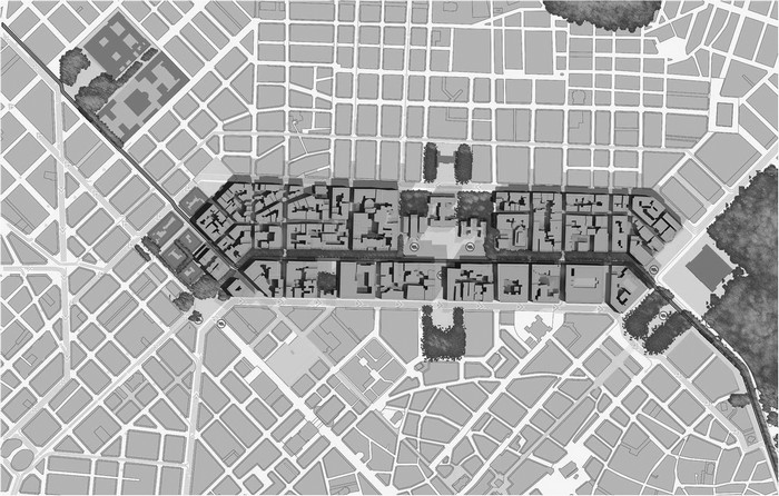Η σημερινή πρόταση για την οδό Πανεπιστημίου και τον συνολικό δακτύλιο από  την Αμαλίας στην πλατεία Ομονοίας και την οδό Πατησίων