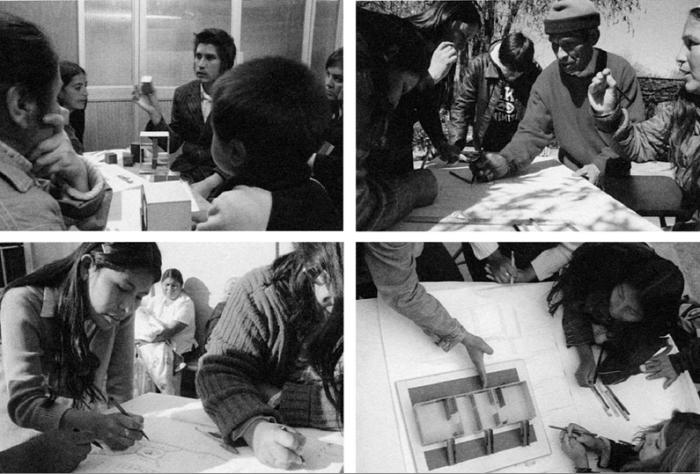 Εικόνες από τα Εργαστήρια που πραγματοποιήθηκαν κατά τη διάρκεια του σχεδιασμού, με τη συμμετοχή των μελλοντικών κατοίκων