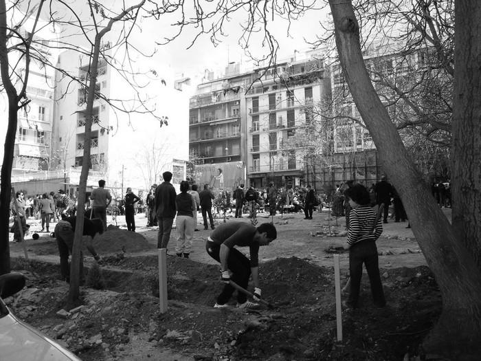 Οι εργασίες για τη δημιουργία του Πάρκου Ναυαρίνου, πηγή: voidnetwork.blogspot.gr