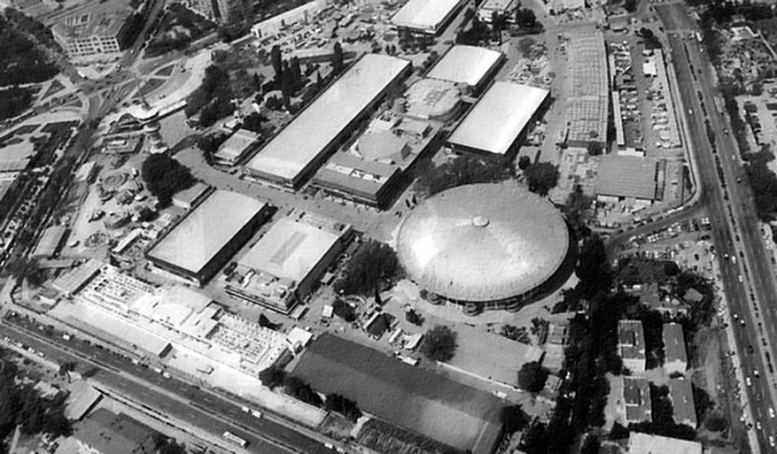 Αεροφωτογραφία του χώρου της Διεθνούς Έκθεσης Θεσσαλονίκης (1966)