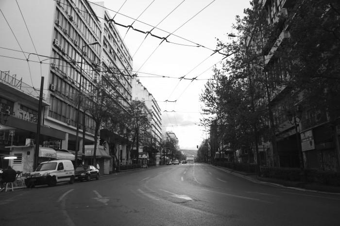 Οδός Πανεπιστημίου, Μεγ. Παρασκευή, Απρίλιος 2014 φωτ. Κωνσταντίνα Θεοδώρου