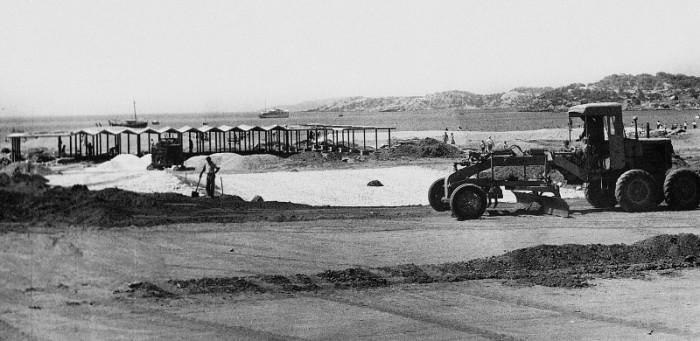 1962 Μεγάλη Ακτή, Βουλιαγμένη | Π. Βασιλειάδης, Ε. Βουρέκας, Π. Σακελλάριος  Πηγή: Αρχείο Κ. Μεγαλοκονόμου