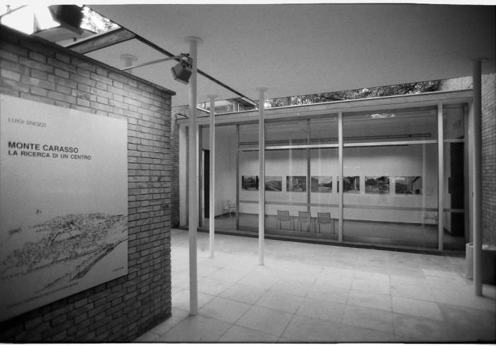Η είσοδος της έκθεσης του Luigi Snozzi στo ελβετικό περίπτερο στην 6η Biennale Αρχιτεκτονικής, πηγή: www.biennials.ch