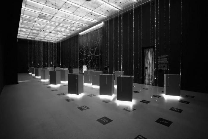 Η έκθεση «Athens by Sound» της ελληνικής συμμετοχής στην 11η Biennale Αρχιτεκτονικής, φωτ: Cathy Cunliffe