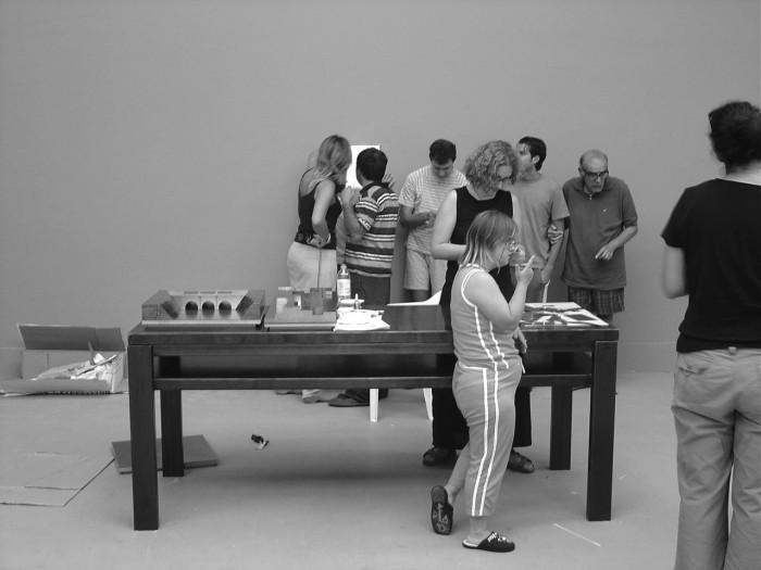 Άποψη της έκθεσης «Παραδείγματα» στην 9η Biennale Αρχιτεκτονικής
