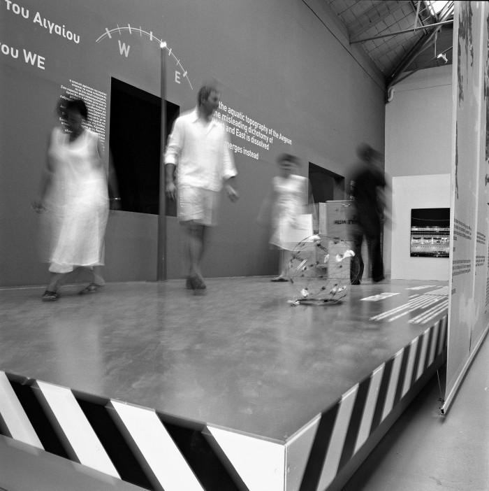 Άποψη της ελληνικής συμμετοχής «Το Αιγαίο: Μια διάσπαρτη πόλη» στη 10η Biennale Αρχιτεκτονικής, φωτ.: Στράτος Καλαφάτης
