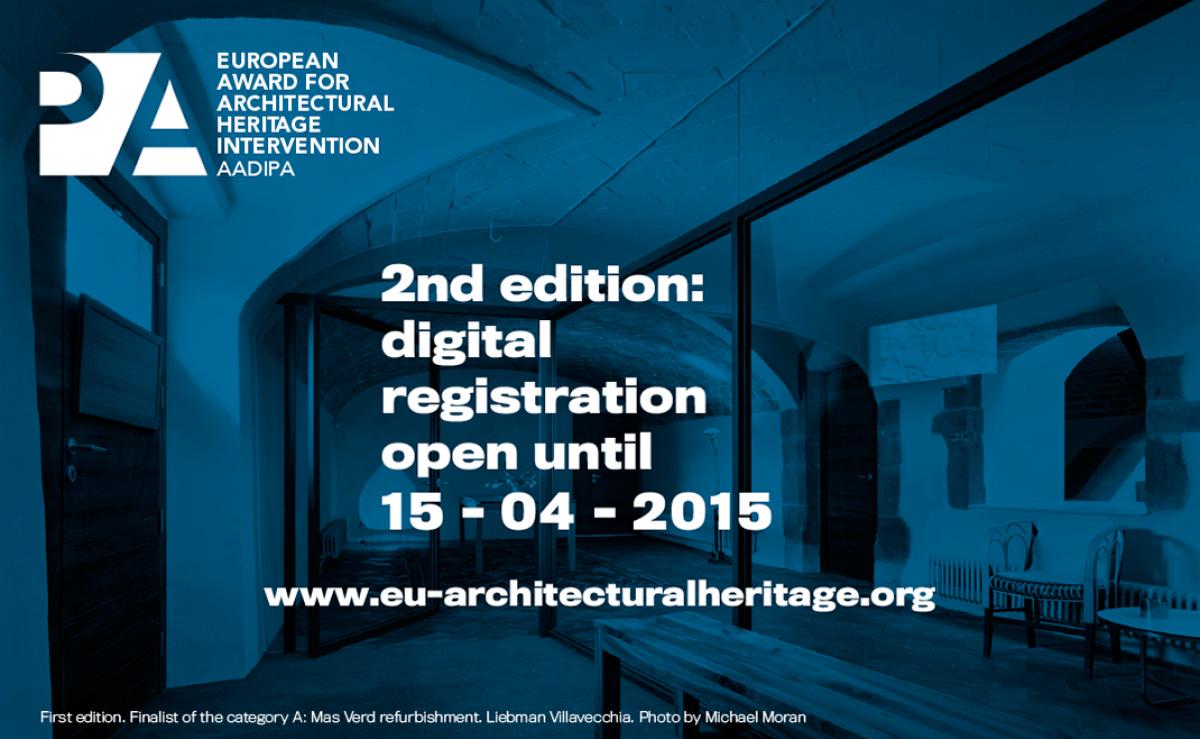 2ο Ευρωπαϊκό Βραβείο για την Παρέμβαση στην Αρχιτεκτονική Κληρονομιά (AADIPA) – The European Award for Architectural Heritage intervention